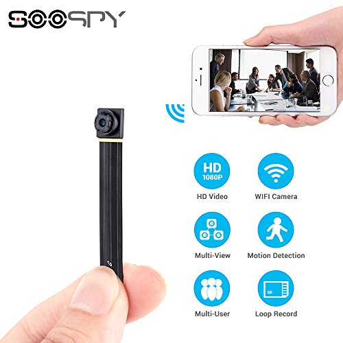 Home / Security Camera System / 1080P Wireless WiFi Mini Camera  SOOSPY  Indoor Outdoor Portable Small Security Camera /Nanny Cam With Motion ...