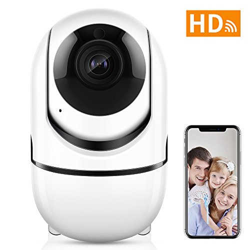 Wireless Security WiFi Camera,ANBAHOME IP Camera for Home Security  Surveillance Baby/Pet Monitor with PTZ Two Way Audio Motion Detection Night  Vision